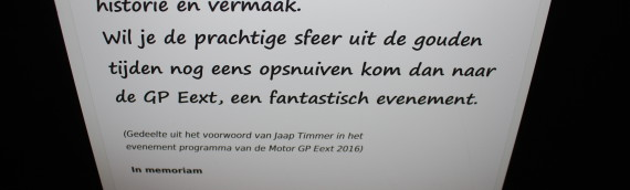 Jaap Timmer vereeuwigd op GP Eext Wall of Fame